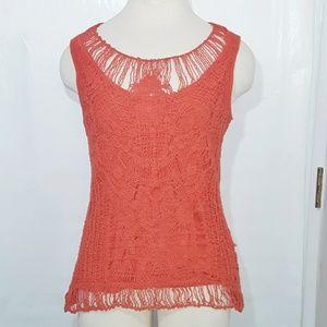 Anthropology Adiva | Pumkin Spice Crochet Top